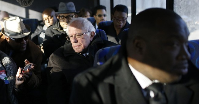Sanders tours Baltimore neighborhood marred by rioting