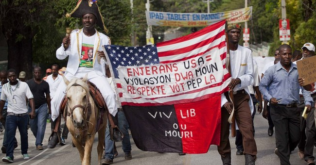 Haiti rights groups lead rally calling for 'fair' elections