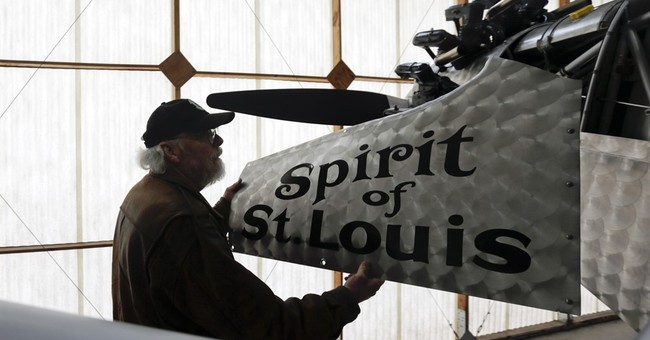 Spirit of St. Louis replica soars 88 years after Lindbergh
