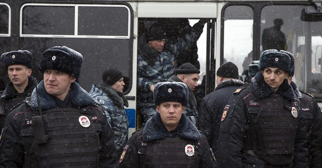 Dozens of Russian protesters detained on Constitution Day