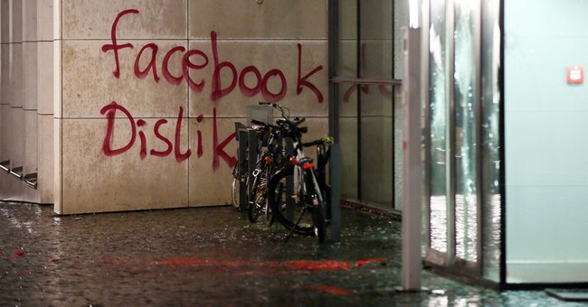 German police search for group that defaced Facebook office