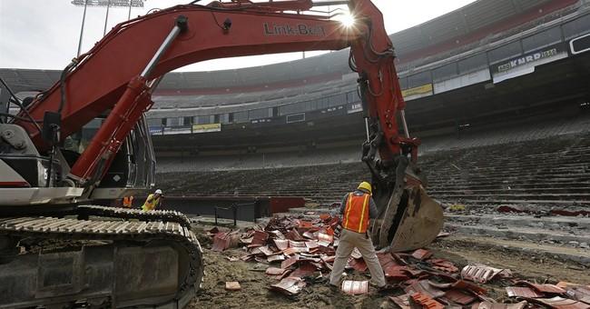 Demolition begins on San Francisco's Candlestick Park