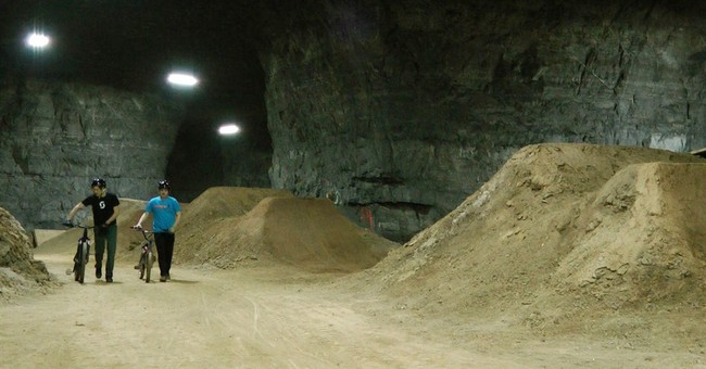 Underground bicycle park being built in old Kentucky mine
