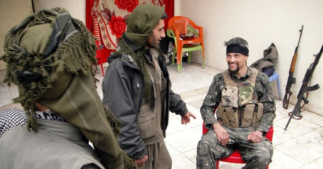Westerners join Kurds fighting Islamic State group in Iraq