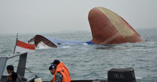 6 crew missing after Danish cargo ship sinks near Indonesia