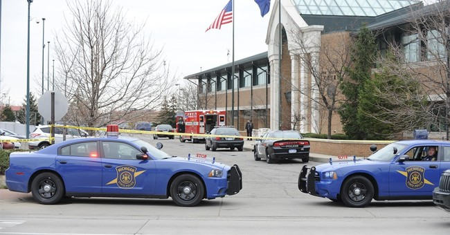 Authorities: Security kills man at police-courts complex