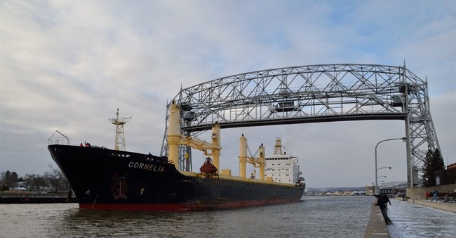 Cargo ship held over a month at Lake Superior port departs