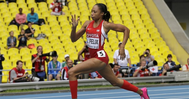 Felix training to run 200, 400 at Olympics on same day