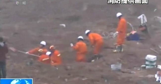 91 missing from landslide that buries buildings in China