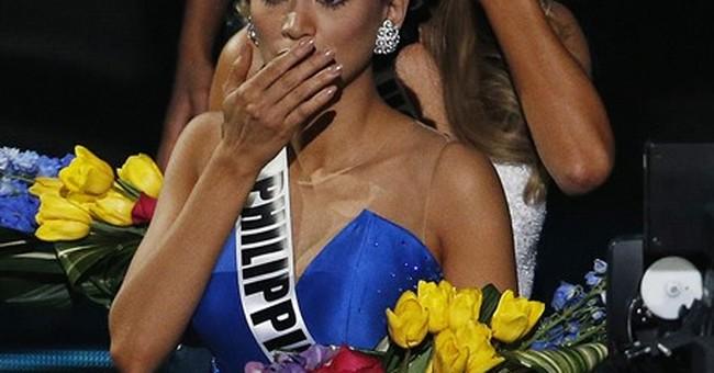 The Latest: Philippines winner felt joy, concern, confusion