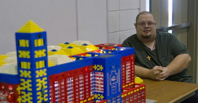 Man designs, builds church out of Legos for annual display