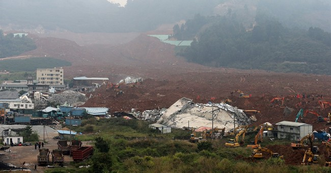 Landslide part of China's year of man-made disasters