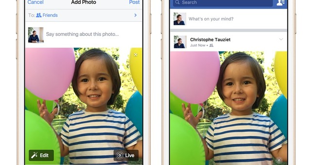 Facebook to enable viewing of Apple's animated photos