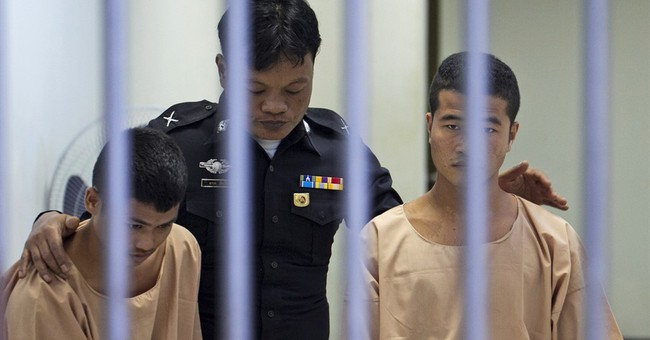 Myanmar migrants found guilty of killing British backpackers