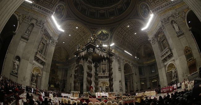 Pope contrasts Jesus' birth, excess in Christmas Eve homily