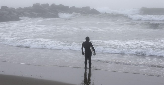 Merry Christmas, bro! Warm weather means surf's up in NYC