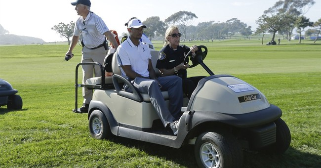 With more back problems, Tiger Woods out at Torrey Pines