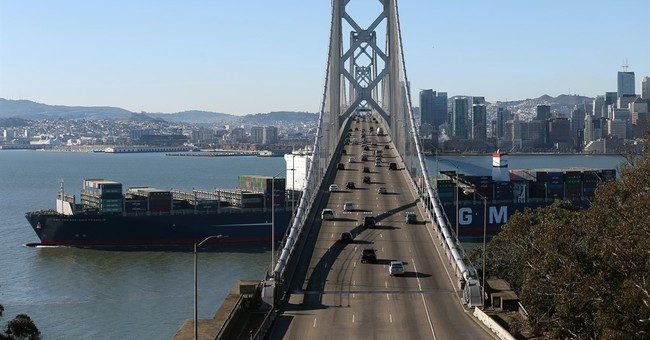 Biggest container ship to visit US enters San Francisco Bay