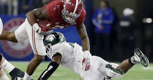 THE LATEST: Bama routs Michigan St 38-0; heads to title game