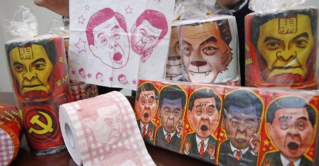 China seizes toilet paper bearing image of Hong Kong leader