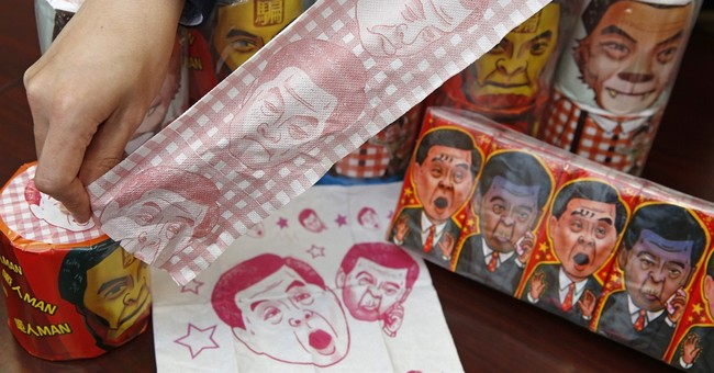 China seizes toilet paper bearing image of Hong Kong leader