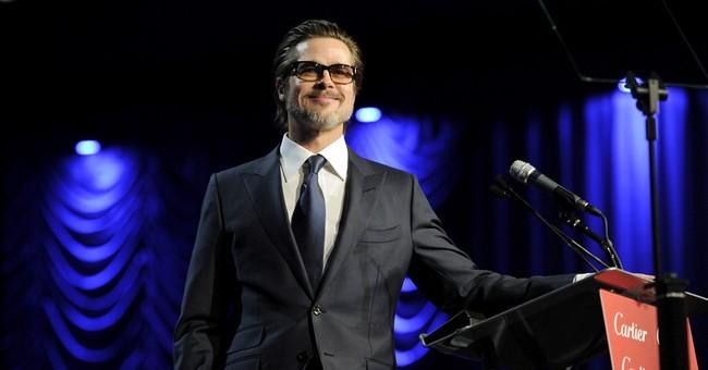 Brad Pitt leads sing-along at film-awards gala