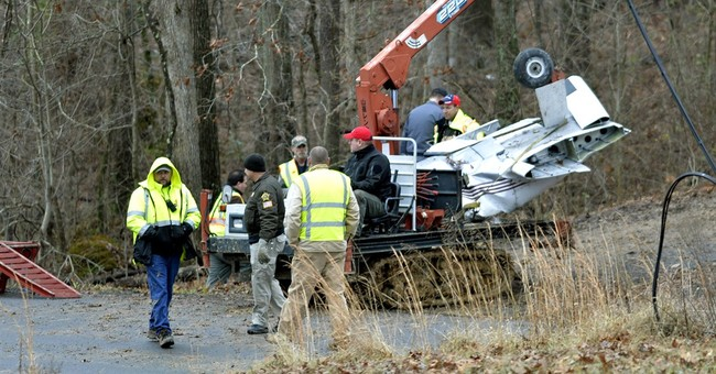 Town copes after plane crash kills family, spares 7-year-old