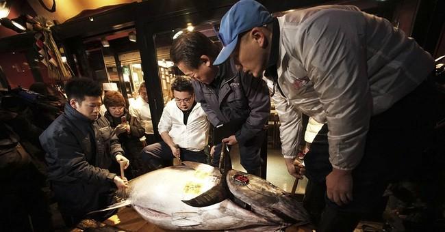 AP PHOTOS: Japan's 4.5 million yen tuna