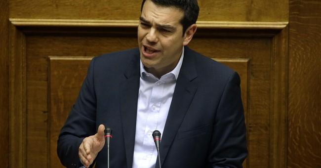World stocks lower on poor China trade, Greek turmoil
