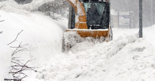 'It's ridiculous': record snowfall blankets New England