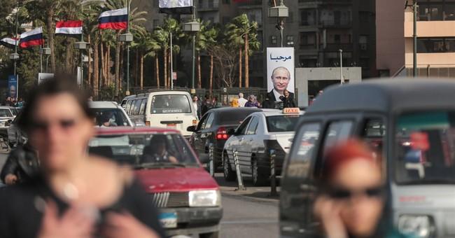 Russian President Vladimir Putin in Egypt to meet leader