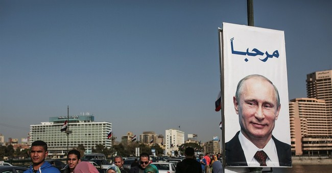 Russian President Vladimir Putin in Egypt to meet leader