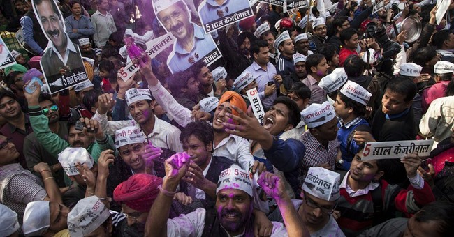 Upstart party wins big in India's capital, in blow for Modi