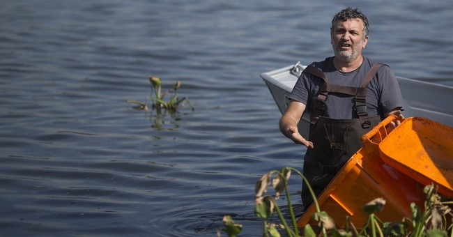 Rio official visits filthy lagoon near Olympic Park