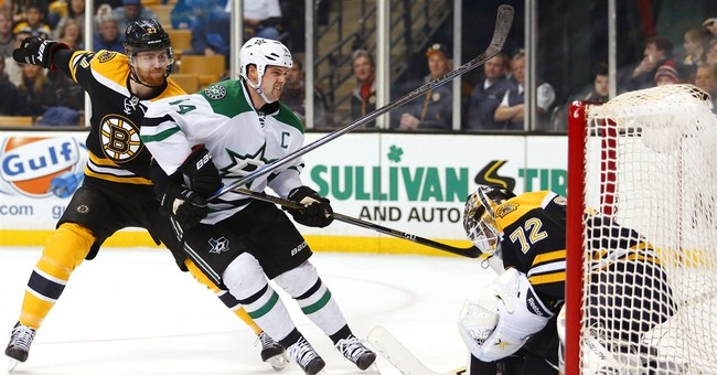 Stars score 2 short-handed goals in 5-3 win over Bruins