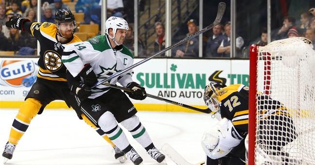 Stars score 2 short-handed goals in 5-3 win over Bruins