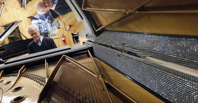Liberace piano unscathed after snow-laden roof caves in
