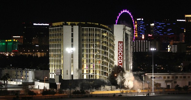 'Lasso' trick topples casino tower after Vegas implosion
