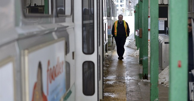 Boston-area public transit system tested during snowstorms