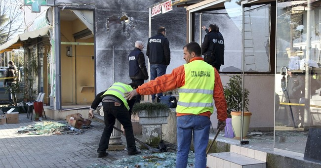 Twin bomb attack in Albania, no injuries