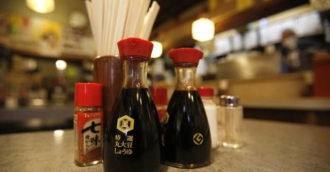 Kikkoman bottle symbolizes soy sauce in much of world