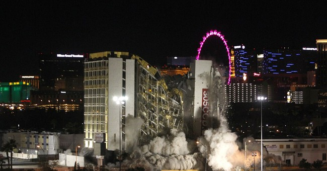 Las Vegas implosion takes down the off-strip Clarion casino