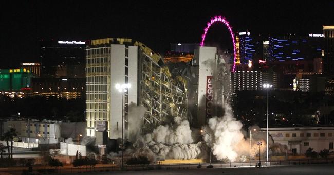 Las Vegas implosion takes down the off-strip Clarion casino