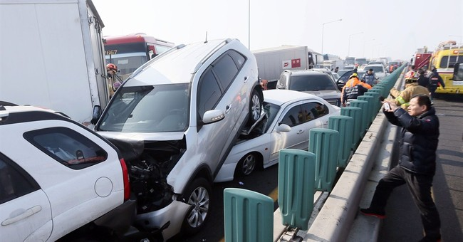 100-car pileup on South Korean bridge leaves 2 dead, 68 hurt