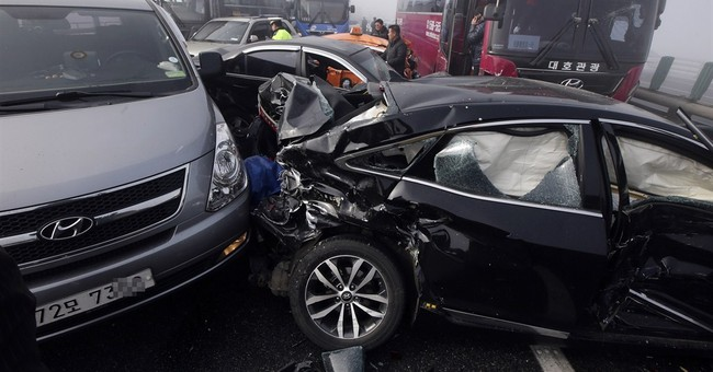 100-car pileup on South Korean bridge leaves 2 dead, 68 hurt