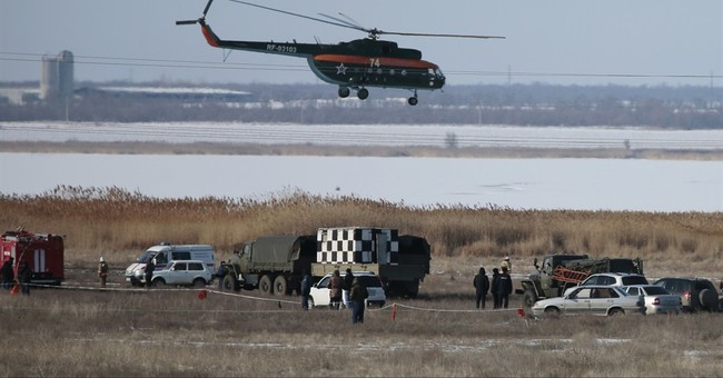 Military jet crashes in southern Russia, 2 crewmen missing
