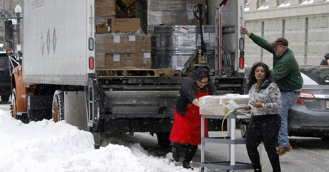 New England snows may hold up roses and valentines