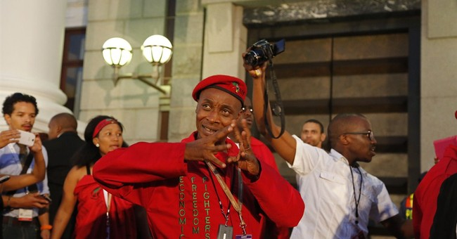South African opposition disrupts president's speech