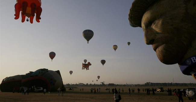 Image of Asia: Up and away in octopus and van Gogh balloons