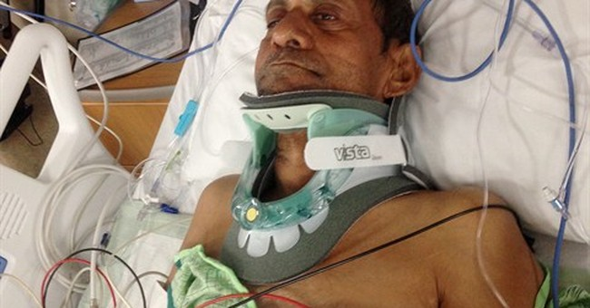 Indian man slammed down after caller reported 'black guy'